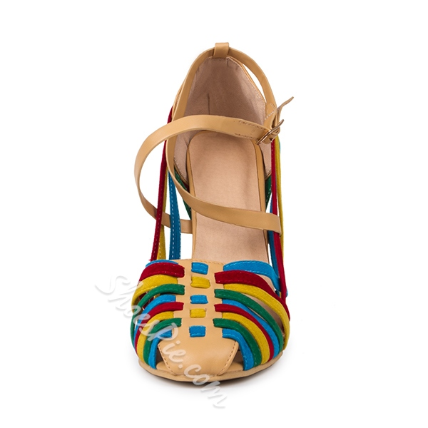 Shoespie Multi Color Strappy Dress Sandals