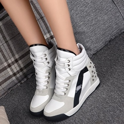 Shoespie Rivets Elevated Heel Sneakers