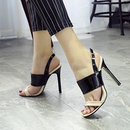 Shoespie Duo Color Dress Sandals