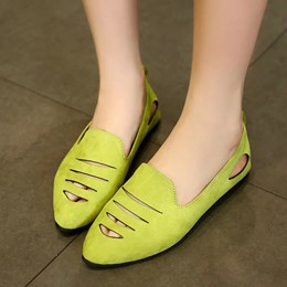 Shoespie Cut Out Loafers