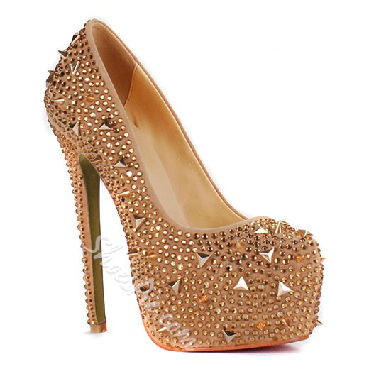 Shining Platform Stiletto Heels Closed-toe Prom/Evening Shoes