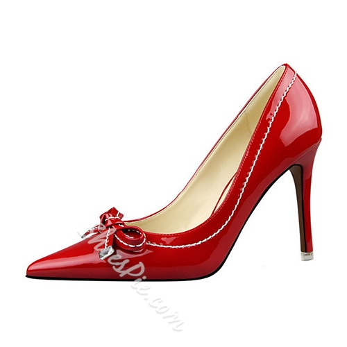 Shoespie Smart Bowtie Stiletto Heels
