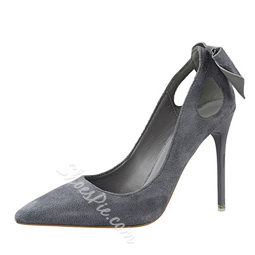 Shoespie Chic Back Bowtie Pointed Toe Stiletto Heels