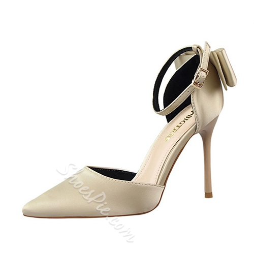 Shoespie Elegant Back Bowtie Stiletto Heels