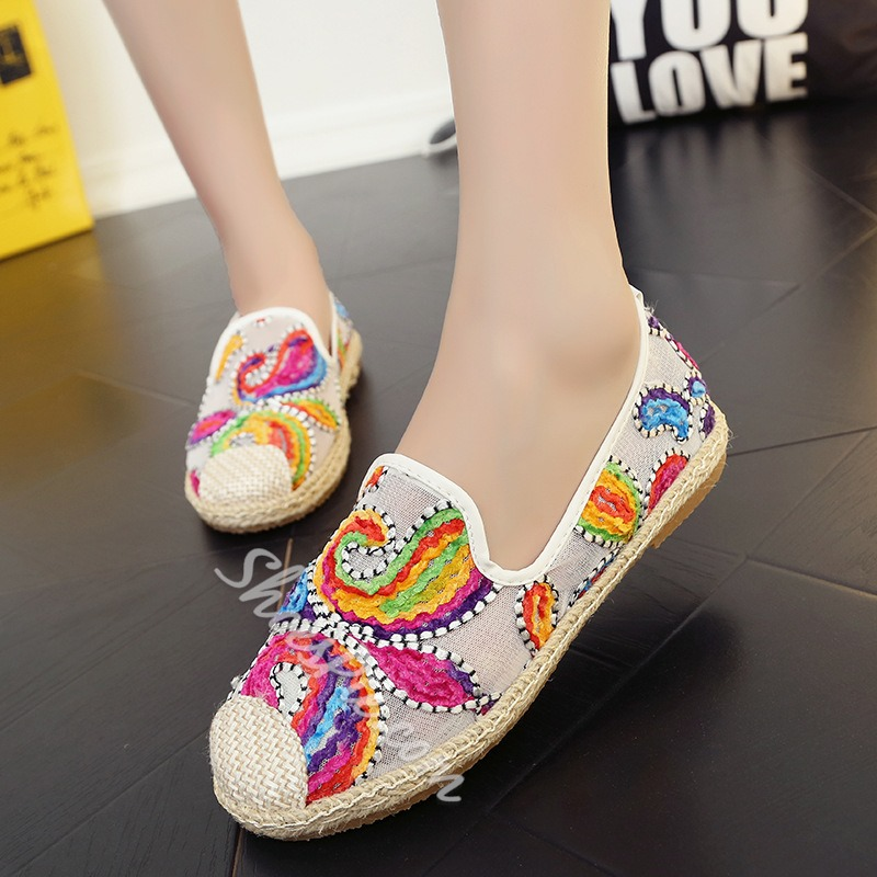 Shoespie Beach Print Loafers