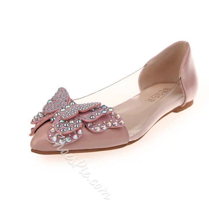 Shoespie Sweet Butterfly Loafers