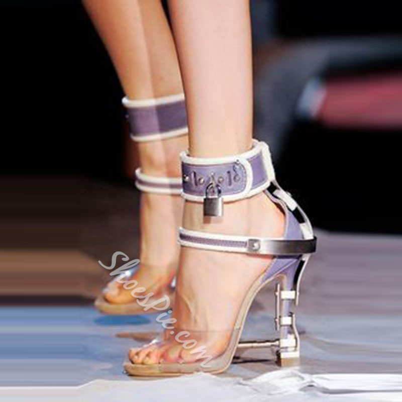 Shoespie Ankle Wrap Locks Decoration Sandals