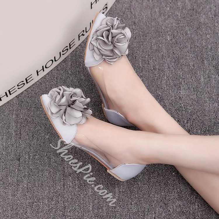 Shoespie Flower Embellished Loafers