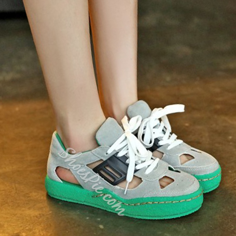 Shoespie Multi Color Cutout Sneakers
