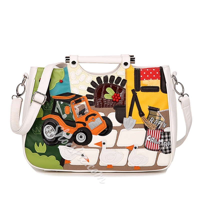 Shoespie Savvy Street Printed Tote Bag
