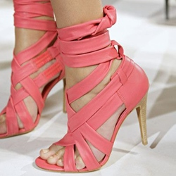 Shoespie Strappy Lace Up Sandals