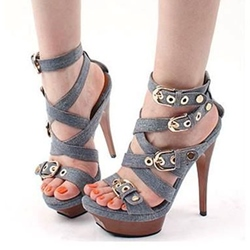 Shoespie Wooden Platform Sandals