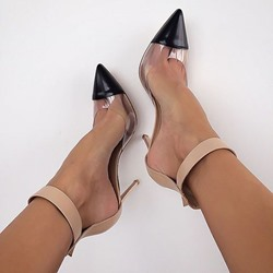 Shoespie Chic Summer PVC Patchwork Stiletto Heels