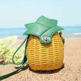 Shoespie Pineapple Shape Straw Bag