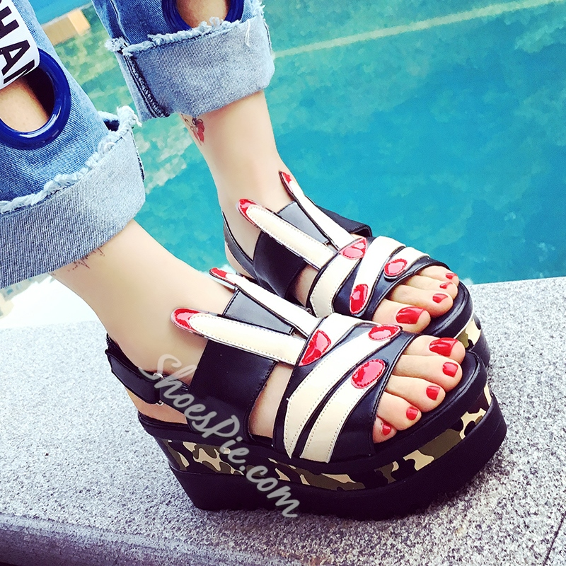 Shoespie Cartoon Wedge Sandals