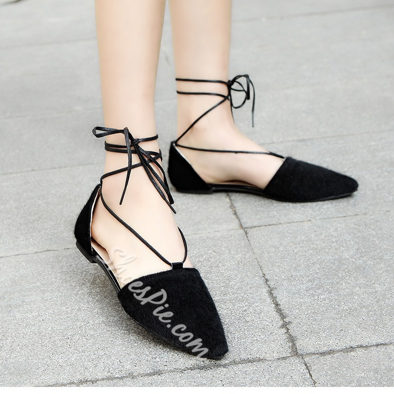 Shoespie Sexy Easy Feeling Lace Up Loafers