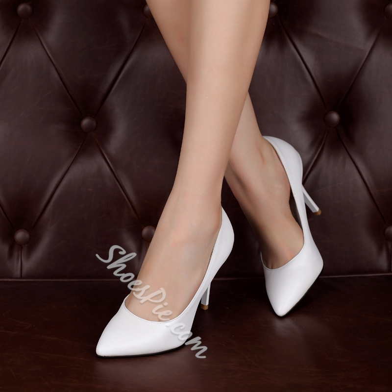 Shoespie Simply Solid Color Stiletto Heels