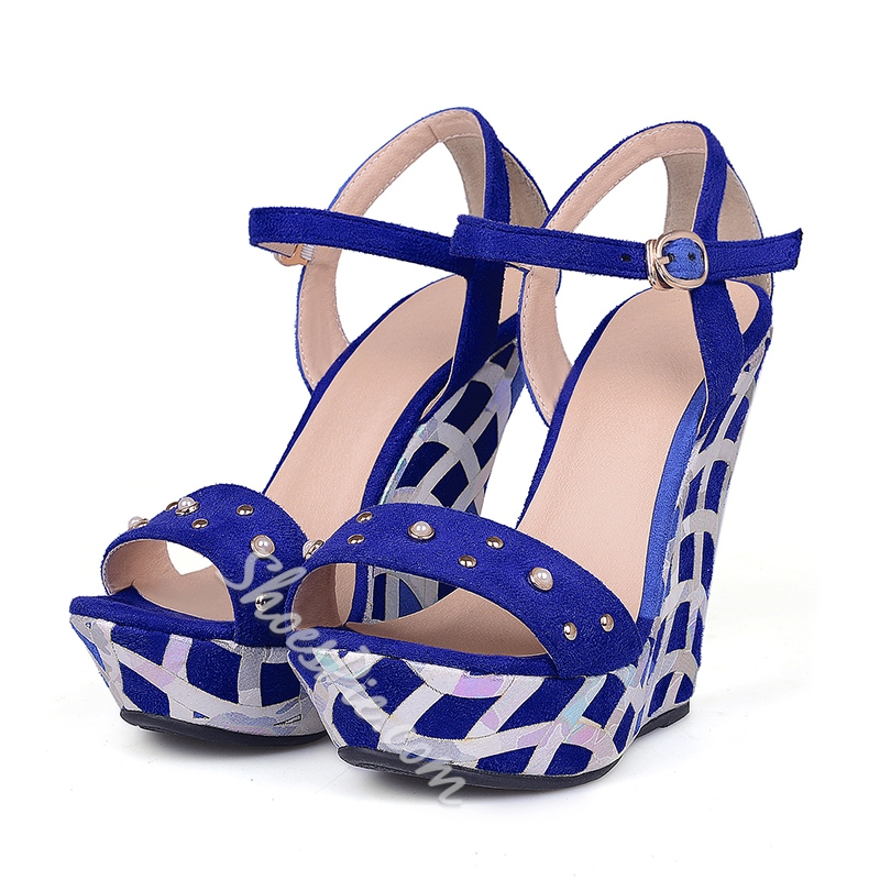 Shoespie Squares Wedge Sandals