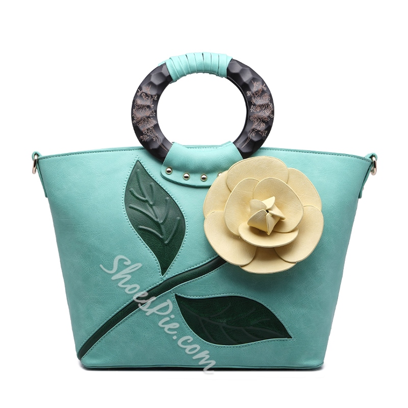 Shoespie Gorgeous Flower Embellished Tote Bag