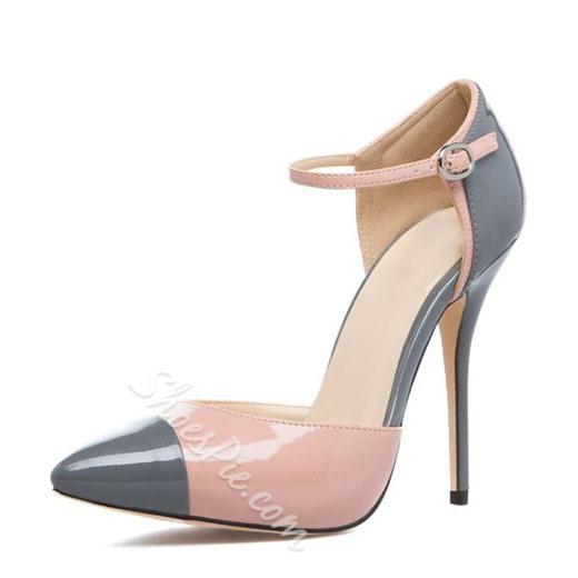 Shoespie Chic Two Part Ankle Wrap Court Shoes