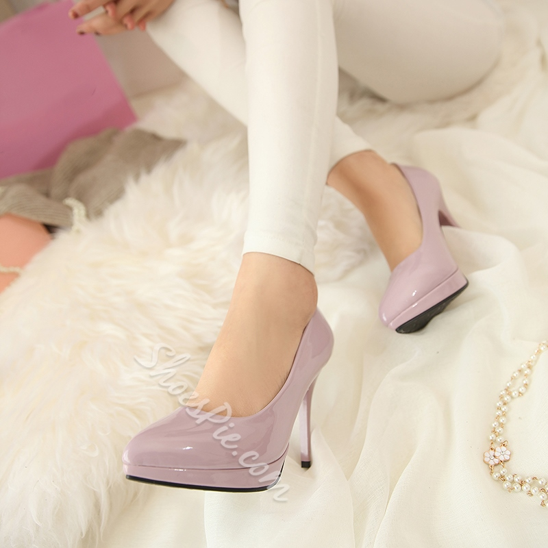 Shoespie Chic Simply Solid Color Stiletto Heels