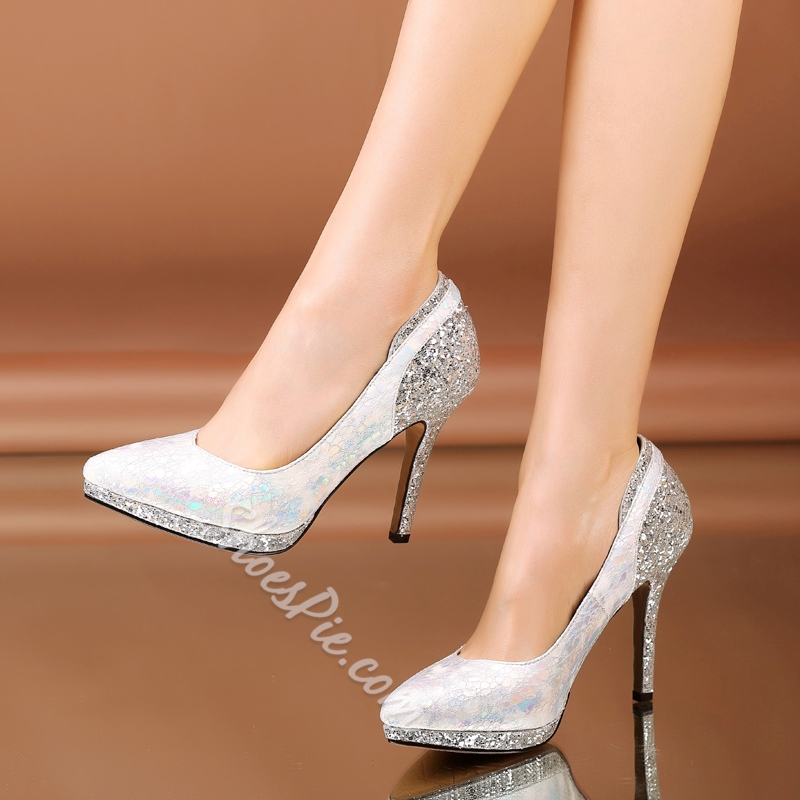 Shoespie Sequined Glittering Stiletto Heels