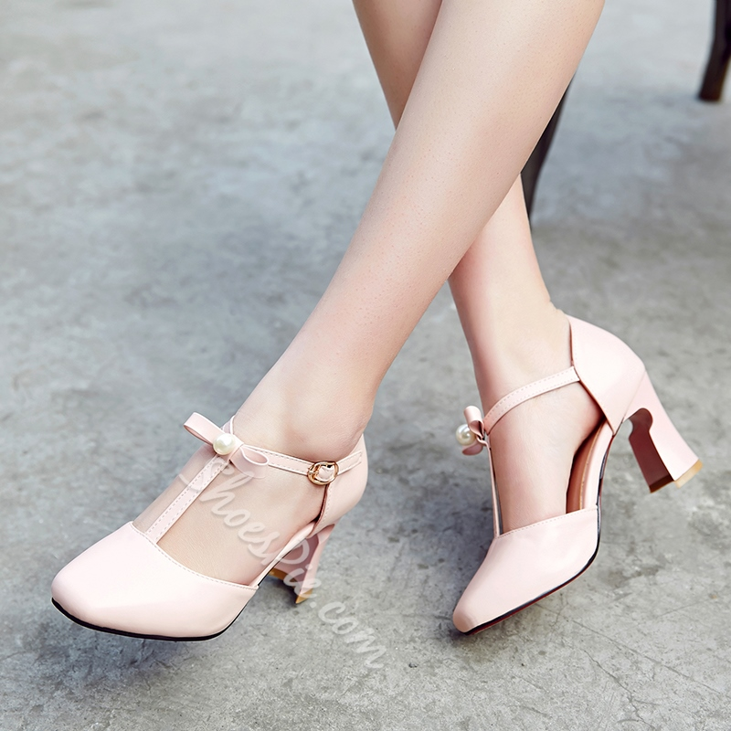 Shoespie Lolita Style Round Toe T Strap Low Heels