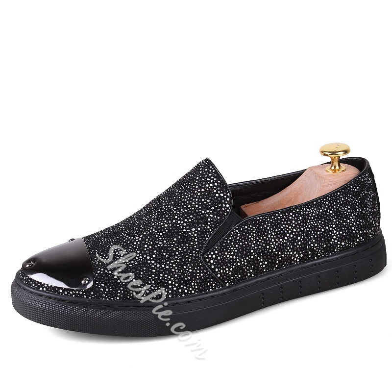 Shoespie Leopard and Metal Men's Sneakers