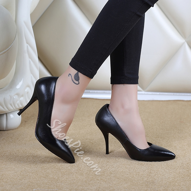 Shoespie OL Simply Solid Color Stiletto Heels