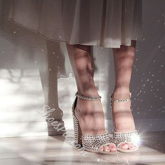 Shoespie Gorgeous All Rhinestones Dress Sandals