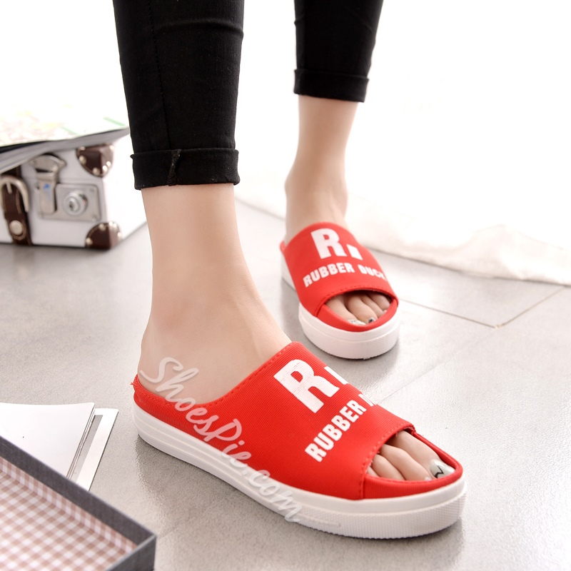 Shoespie Casual Alphabet Slippers