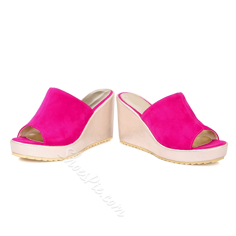 Shoespie Simply Wedge Mule Shoes