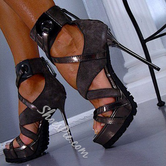 Shoespie Punk Platform Sandals