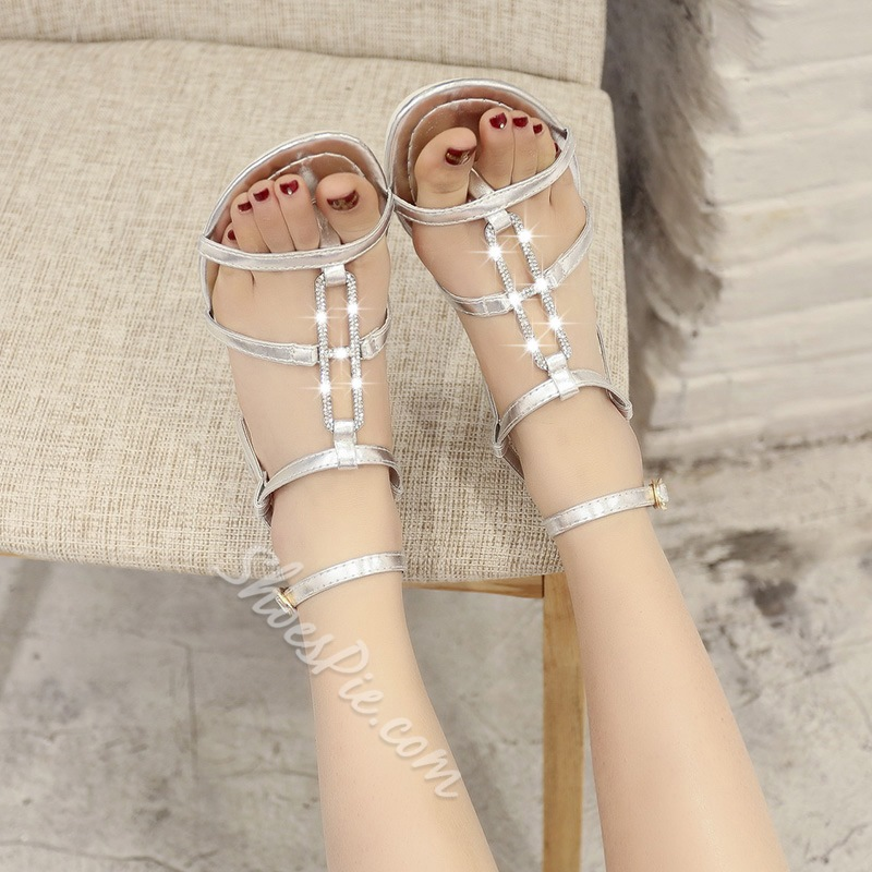 Shoespie Bling Bling Flat Sandals