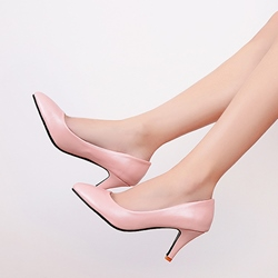 Shoespie Simply Solid Color Kitten Heels