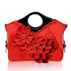 Shoespie Vintage Flower Embellished Tote Bag