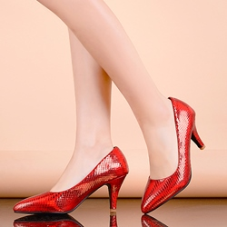 Shoespie Solid Color Sneak Effect Kitten Heels