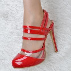 Shoespie Red Dress Sandals