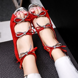 Shoespie Sweet Knot Open Toe Flat Sandals