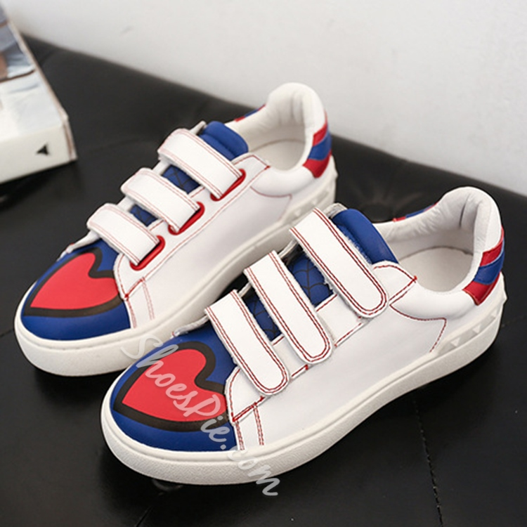 Shoespie Cute Heatr and Velcro Sneakers
