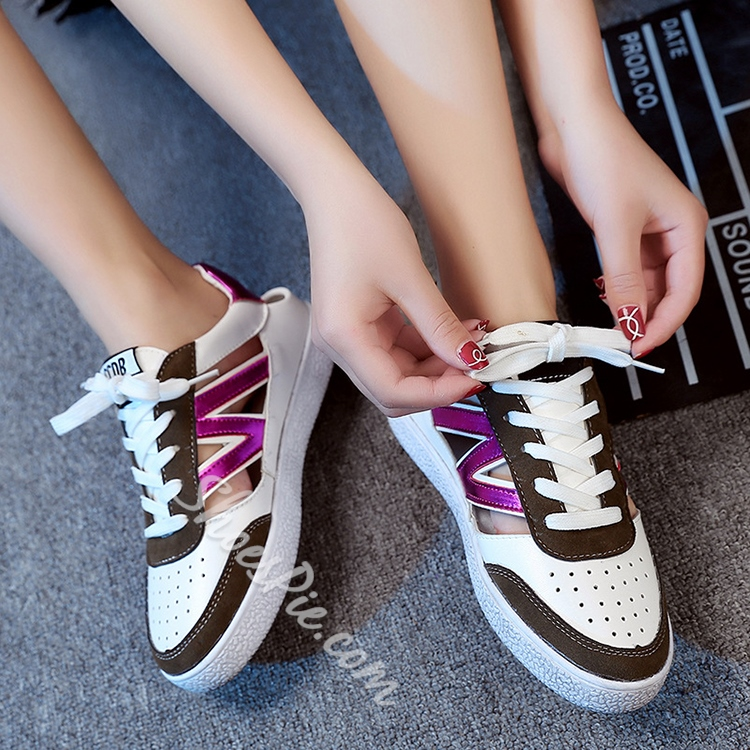 Shoespie Cutout Sneakers