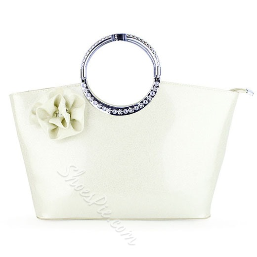Shoespie Luxurious Flower Embellished Tote Bag