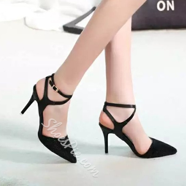 Shoespie Two Part Pointed Toe Stiletto Heels