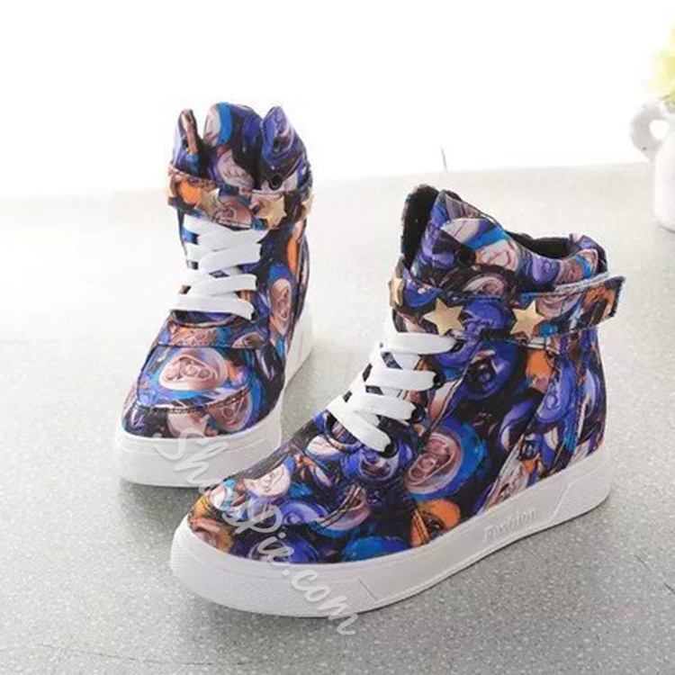 Shoespie Rose Paint Sneakers