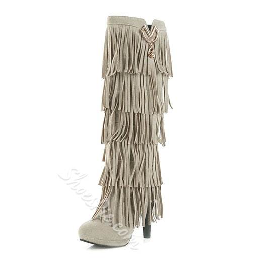 Cheap Fashion Tassel Knee High Boots
