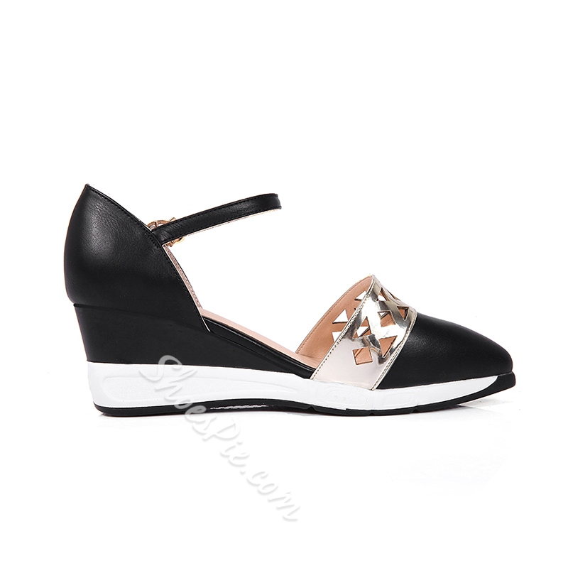 Shoespie Unique Cutout Wedge Sandals