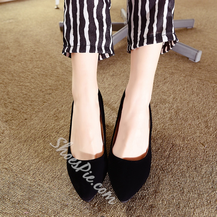 Shoespie Chic Solid Color Kitten Heels