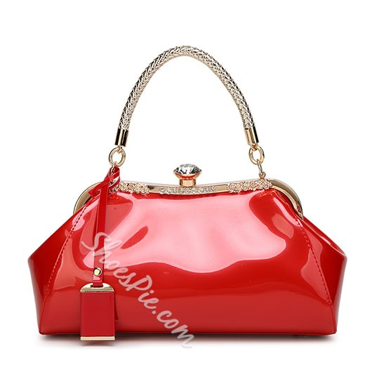 Shoespie Stylish Patent Leather Tote Bag