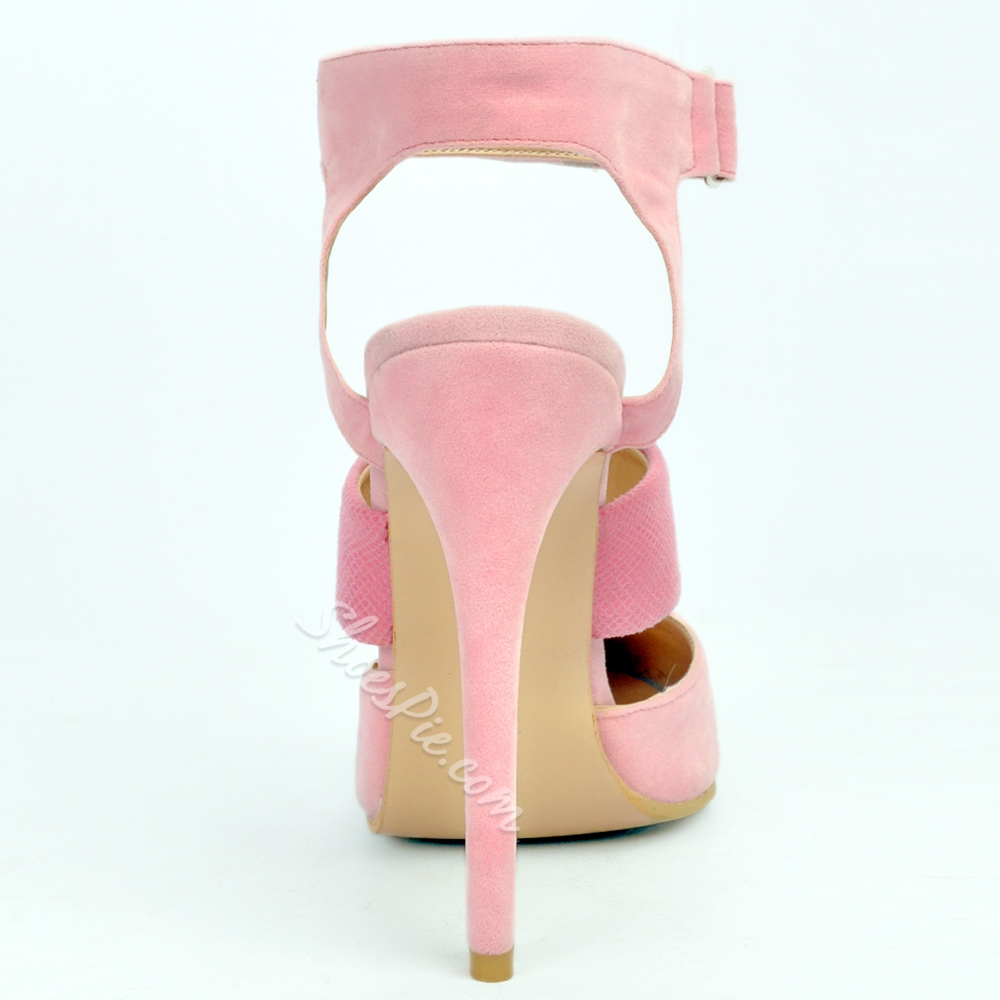 Shoespie Classy Pink Pointed Toe Backless Stiletto Heels