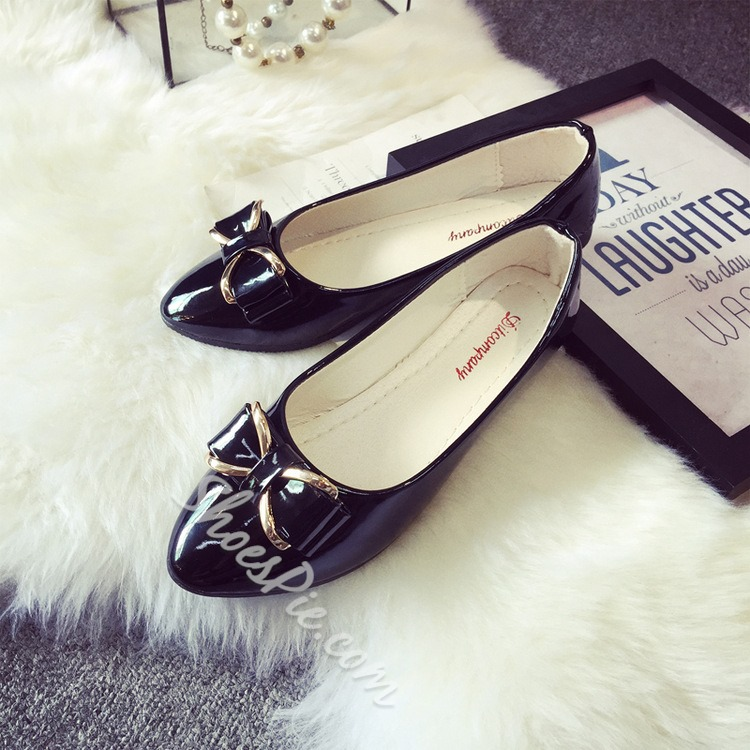 Shoespie Chic Bowtie Embellished Loafers